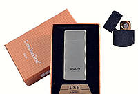 """Спиральная USB зажигалка """"Bolin"""" №4790 Silver, спираль с двух сторон, практичное приобретение, стильно и модно"""