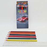 """Карандаши пластиковые """"Drive"""" 12 цв., в картоне, европ. J. Otten"""