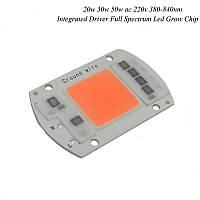 Светодиодный модуль COB LED 50W AC220 для растений