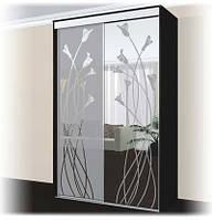 Шкаф купе 2х-дверный ширина 1100мм, глубина 450мм, высота 2100мм в спальню. Одесса