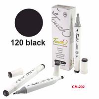 Водостойкая подводка-маркер для бровей Black-120