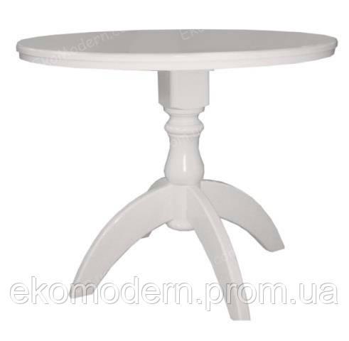 Стол обеденный ЛЕО+ белый или в цвете слоновой кости для гостиной дома, кафе и ресторана