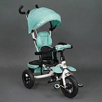 .Велосипед 3-х колёсный 6699 Best Trike (1) БИРЮЗОВЫЙ, надувные колёса, поворотное сидение, фара, ключ зажигания