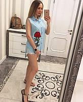 Красивая летняя рубашка с вышивкой, фото 1