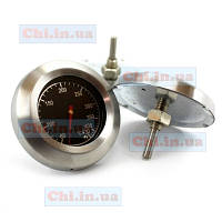 Термометр градусник для гриля, коптильни, мангала TG43, черный циферблат