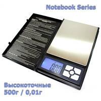 Аптекарские, ювелирные весы 500г 0,01г Notebook Series