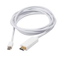 Кабель преходник Thunderbolt Mini DisplayPort для HDMI 2 метра белый
