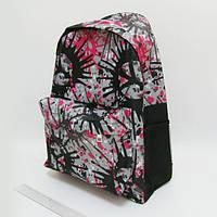 """Рюкзак с карманом """"Воображение"""" серый, 42х30х13см"""
