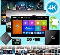 ТВ Бокс, Смарт ТВ приставка Андроид  SMART TV X96 2GB/16GB S905X 2GB/16GB . Все настроено!
