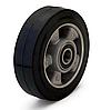 Колесо из эластичной резины, диаметр 80 мм, без кронштейна, с подшипниками. Серия 20