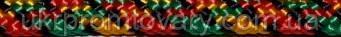 Паракорд 5 мм. Цвет №16. Яркое и сочное сочетание красных синих и зеленых тонов. Один из фаворитов среди популярных цветов паракорда.   №456/16