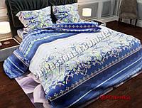 """Ткань для постельного белья Бязь """"Gold"""" Lux GL23800blue (50м)"""