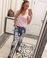 Модные джинсы с вставками