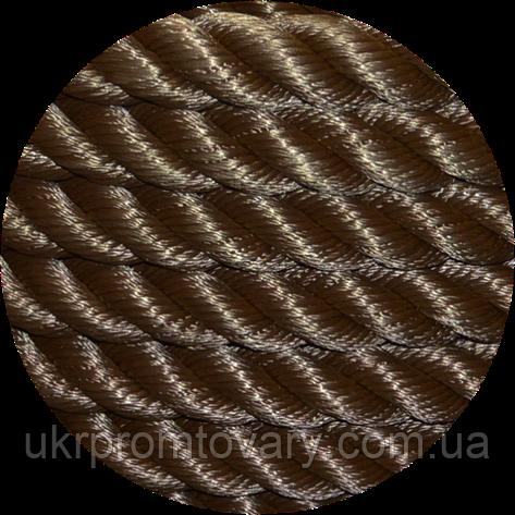 Канат для кроссфита (боевой канат) - капроновый крученый трехпрядный канат диаметром 40мм. №528/4, фото 2