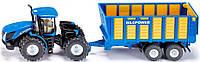 Трактор New Holland T9 560 с прицепом, 1:50, Siku