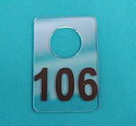 Номерки для гардеробов 40_60 мм черный