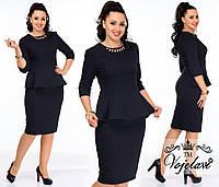 Платье женское чёрное баска АК/-012