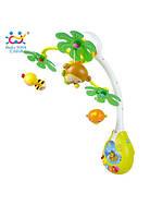 Музыкальный мобиль huile toys Веселый остров (818) с ночной подсветкой