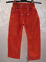 Вельветовые брюки на девочек 92,98,104,110 роста Коралл