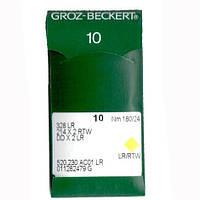 Иглы для промышленных швейных машин 328 LR/214X2 RTW/DDX2LR 180LR Groz-Beckert