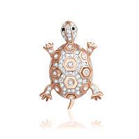 """Серебряная подвеска с позолотой черепаха """"320"""""""