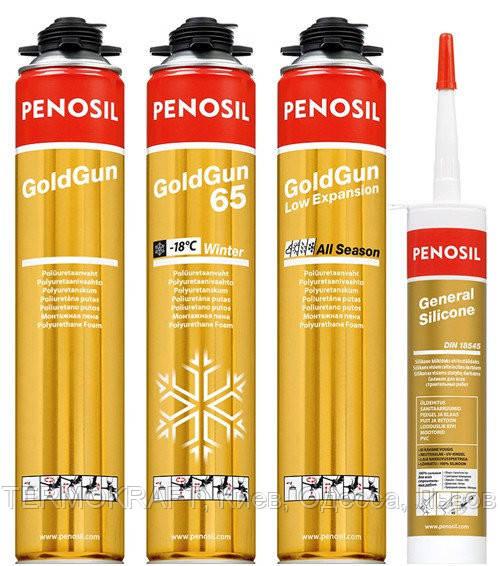 Піна монтажна Penosil Gold Gun 65L PRO (золотий балон) (річна)