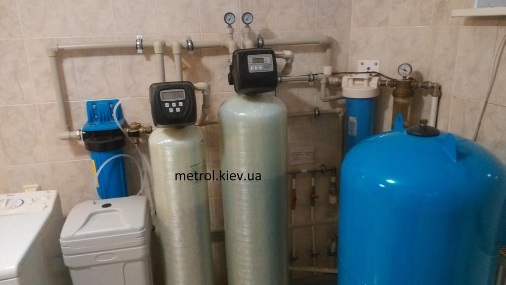 Монтаж системы водоподготовки в котедже.