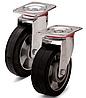 Колесо из эластичной резины, диаметр 125 мм, с поворотным стандартным кронштейном