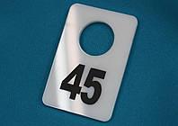 Номерки в гардероб 40_60 мм белый