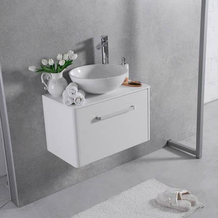 Тумба с умывальником Fancy MarbleFIJI 800 Mona (Белый), фото 2