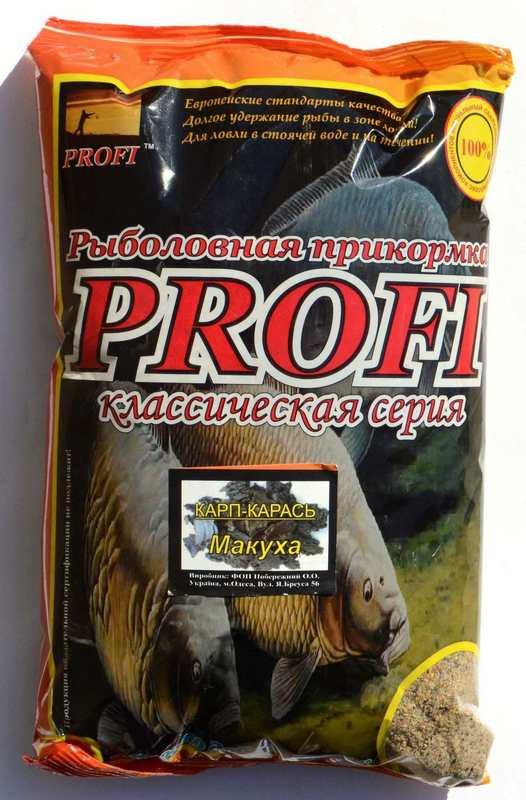 Прикормка для лову риби PROFI, Короп-Карась, Макуха, 1кг