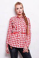 Клетчатая красная рубашка с длинным рукавом Техас2 Glem 44-50 размеры