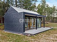 Лофт дом каркасный, скандинавский проект, фото 1
