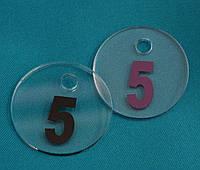 Бирка гардеробная круглая 5*5 см