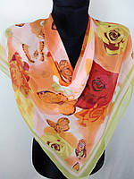 Жіночий квітковий хустку з шифону 80х80 см (кол.16)