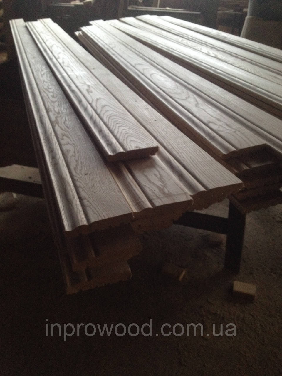 Високий дерев'яний плінтус Ясен 100х20мм