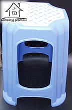 Стул, табурет пластиковый большой (голубой) С010