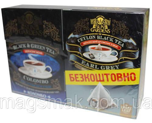 Чай Sun Gardens Colombo Mix + 15 бенкет. зеленого саусепу БЕЗКОШТОВНО!, фото 2