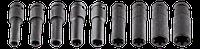 """Головки сменные ударные длинные 1/2"""", E10-E24 мм, набор 9 шт, CrMo NEO Tools 12-110, фото 1"""