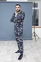 Мужской камуфляжный костюм на змейке