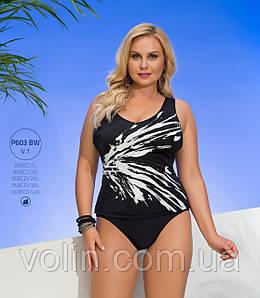 Цельный польский купальник для полных Volin,P603BW