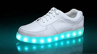 Светящиеся  кроссовки led белые