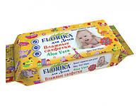 """Влажные салфетки для детей """"Florika"""" 48 штук"""