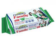 """Влажные салфетки """"Florika"""" Family 60 штук"""