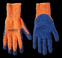"""Перчатки рабочие, утепленные, акриловые с рельефным латексным покрытием, 10"""""""