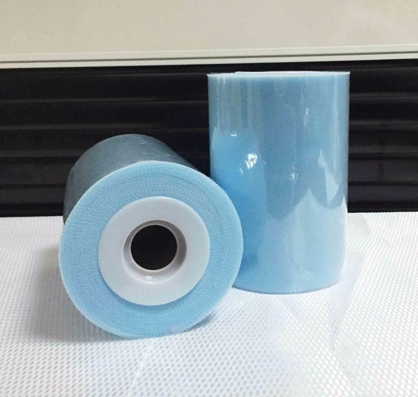 Лента фатиновая премиум 15 см светло голубая