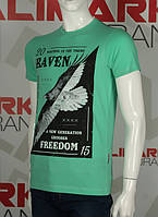 Valimark качественная мужская футболка Валимарк raven freedom ворон код 17203