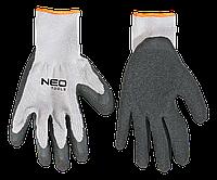 """Перчатки рабочие, х/б, сторона ладони с латексным покрытием, 8"""" 97-601"""