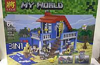 Конструктор Lele серия My World 33019 Дом на морском побережье 3в1 (аналог Lego Майнкрафт, Minecraft)