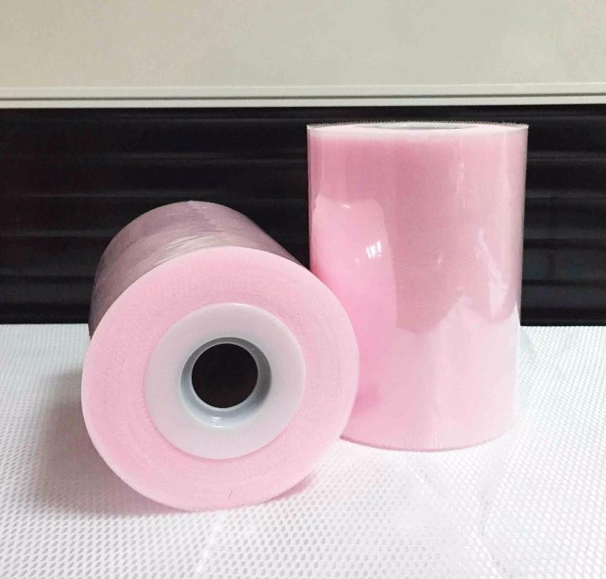 Лента фатиновая премиум 15 см светло розовая